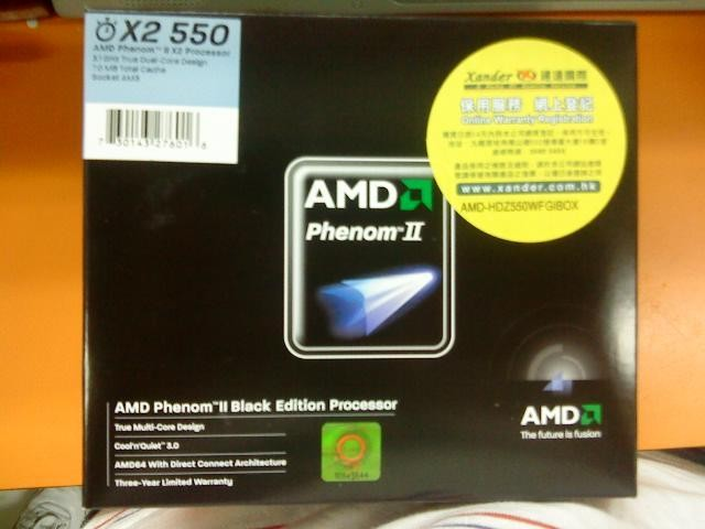 AMD Phenom II X2 550BE