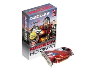搭載AMD最新 RV670繪圖晶片 GECUBE HD3800系列隆重推出