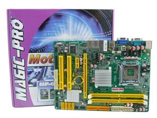 全板採用「Fujitsu」固態電容 Magic-Pro MP-G31-MS主機板
