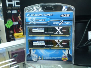 Silicon power Xpower系列記憶體 DDR2-1066 4GB Kit套裝售港幣$488