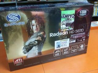 支援DirectX 11的新一代繪圖卡 Radeon HD 5870已於腦場有售