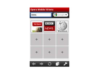 告別英文預覧版 選項內容更清晰 Opera Mobile 10 beta亞洲版登場