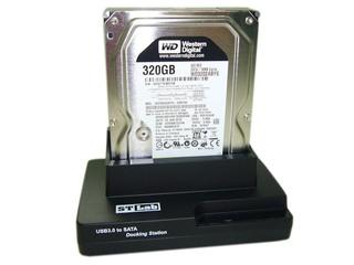 彈性更換硬碟 採用USB 3.0介面  ST-LAB S-280 USB3.0硬盤插座