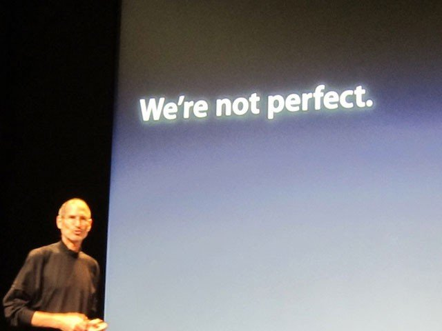 Apple: We are not not perfect