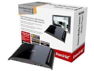 提供RMVB畫面優化 支援多種格式影片 KWorld M200高畫質多媒體播放器