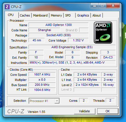Athlon II x2 220 AMD ES