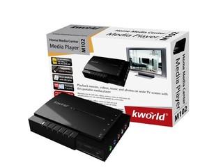 支援 RMVB 、720P高畫質播放 KWorld  M102 多媒體播放器