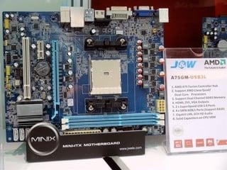 看好下半年AMD平台主機板銷情 J&W展出全新AM3+與FM1主機板