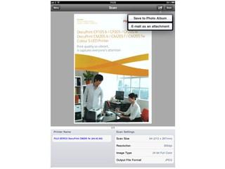 支援iPhone、iPad操作打印掃描 Fuji Xerox Print and Scan Utility for iOS