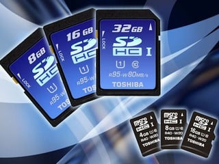 採用UHS-1技術高速匯流排介面 TOSHIBA Premiugate系列SDHC卡