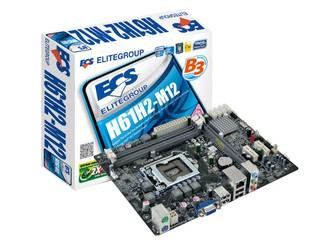 組裝入門級多媒體文書系統 ECS H61H2-M12主機板