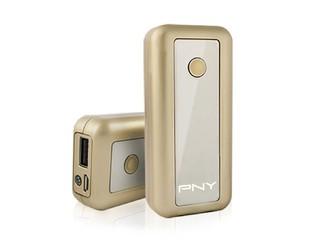 香檳色鏡面外殼、5200mAh電池 PNY Power Bank 52A 流動充電器