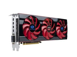 公版設計配搭三風扇散熱器 Sapphire HD7990 6GB GDDR5繪圖卡