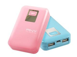 7800mAh電量、時尚粉色選擇 PNY V78粉色系列流動充電器