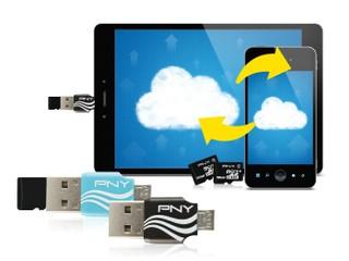 簡化檔案互相 方便攜帶 PNY OTG + Micro SD兩用讀卡器