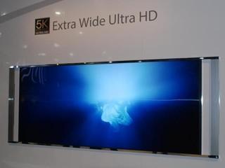 4K UHD勢成未來電視熱潮 Toshiba另展出5K超闊屏影院電視