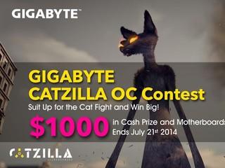 GIGABYTE舉行「CatZilla超頻挑戰賽」 分風水冷、LN2組別 獎金高達1千美元