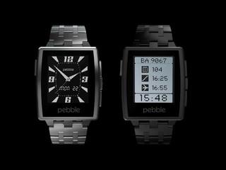 金屬錶身錶帶 時尚高貴 Pebble Steel 智能手錶香港發佈