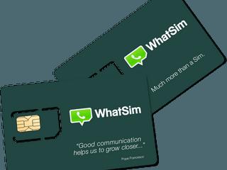 10 歐元 WhatSIM 全球無限 Send 覆蓋全球 150 國家、全年任用