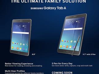 備8吋及9.7 吋屏幕 入門平板配手寫筆 Samsung Galaxy Tab A 平板台灣發佈