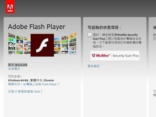 Adobe Flash所有版本均存在重大漏洞 小心被黑客控制 更新補丁將下週一發放