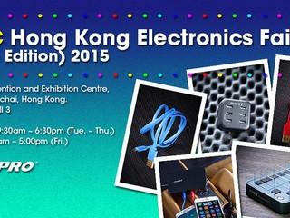 香港秋季電子產品展 2015 正式展開 Magic-Pro 攤位上展示旗下充電週邊產品