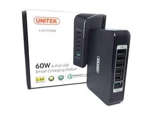 支援 QC 2.0 快速充電 UNITEK Y-P535 6 Port USB充電器