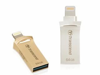 Lightning+USB 3.1 Gen 1 高速備份 Transcend JetDrive Go 500 隨身碟