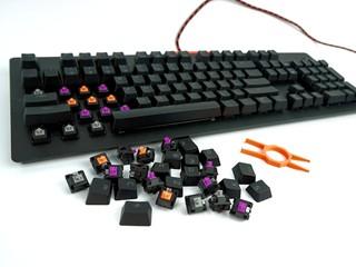 業界首創 機械鍵軸、鍵帽、燈柱自由配搭 EPICGEAR DEFIANT 模組化電競鍵盤
