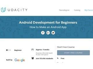 自學網上平台助零基礎開發者學習 Google 聯合 Udaciity 推免費編寫教程