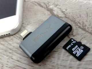 支援 Apple Lighting 介面 PNY DUO-LINK R MicroSD 讀卡器