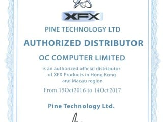 OC Computer 成為 XFX 港澳總代理 即日起為用家負責全線產品售後服務