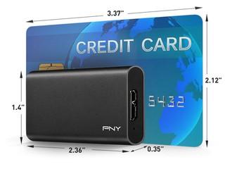 抗震.袖珍移動固態硬碟 PNY Elite Portable SSD