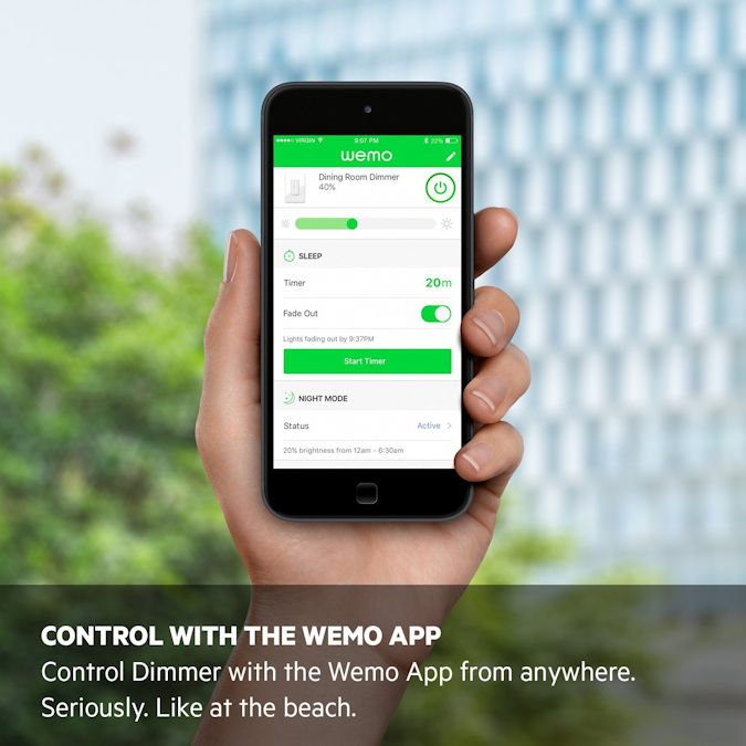 Wemo Wi-Fi Smart Dimmer