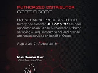 Ozone 委任 OC Computer Limited  成為香港地區總代理