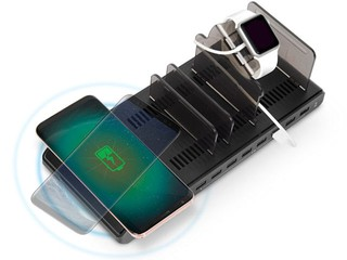 最多 9 個有線+無線裝置同時充電 Unitek Y-2192 智能充電座