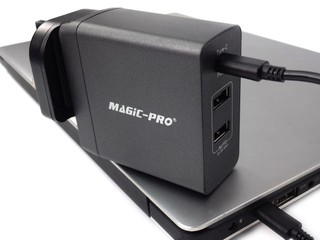 3 組 USB 接口、45W 總輸出 Magic Pro ProMini 3TQC 旅行充電器