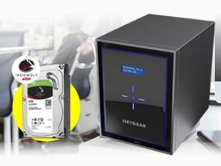 NETGEAR x Seagate 穩妥檔案備份方案 買指定系列送 Seagate Ironwolf 4TB NAS 硬碟