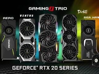 基於 NVIDIA 全新 Turing 架構 MSI 率先發佈 GeForce RTX 20 系列非公版繪圖卡