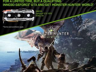 Inno3D 優惠 keep 住嚟喇!! 買卡免費換 Monster Hunter World 遊戲兌換碼