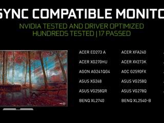 【再多 2 款型號支援 G-SYNC 相容模式】 17 款 VRR 顯示器通過 G-Sync Compatible 測試