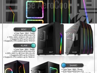 【盡情體驗 RGB 光污染燈效盛宴】 Aerocool 四款全新機箱耀目登場
