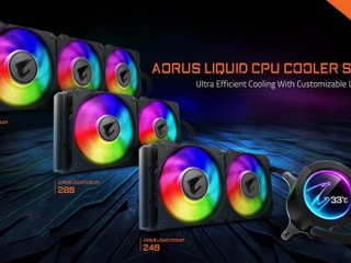 【60mm LCD 顯示屏吸睛度爆燈!!】 AORUS Liquid Cooler 一體式水冷上市
