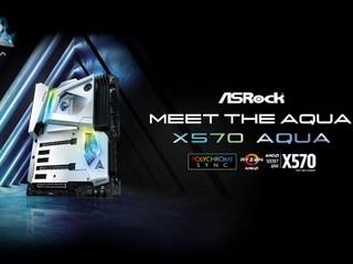 【最強の水冷板,Ryzen 3000 性能大釋放!!】 ASRock 正式發佈限量款 X570 AQUA