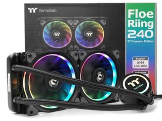 配搭 Riing Plus RGB 風扇 Thermaltake Floe Riing RGB 240 一體式水冷