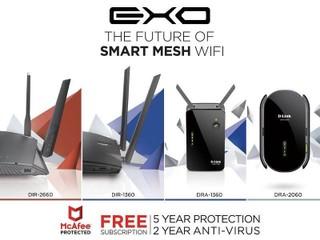 無縫、嶄新、經得起考驗的家庭網路!! D-Link EXO Wi-Fi Mesh 系列產品