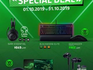 【?? RAZER 十月特別優惠】 買鍵盤/滑鼠送電競週邊.仲有耳機減價推廣