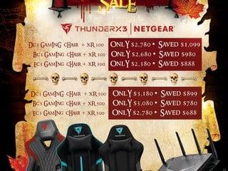 【ThunderX3 x NETGEAR 哈囉喂大優惠】 買電競椅 + 電競 Router 最多慳 $1,099