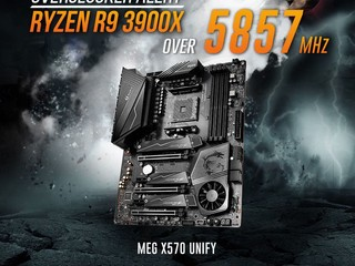 5,857MHz !! HKEPC 紀錄被打爆了  MSI MEG X570 UNIFY 主機板登場 !!