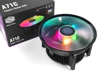 矮身設計、ARGB 燈效 Cooler Master A71C AM4 專用散熱器